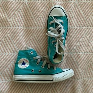 Kids Turquoise Converse All Stars